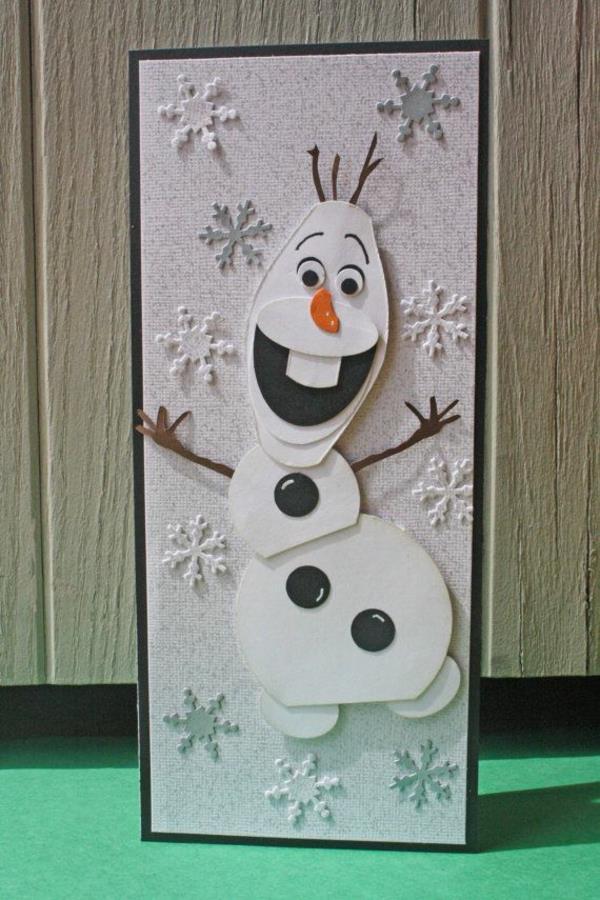 Originelle-Ideen-für-Gestaltung-von- Weihnachtskarten-Disney-Frozen