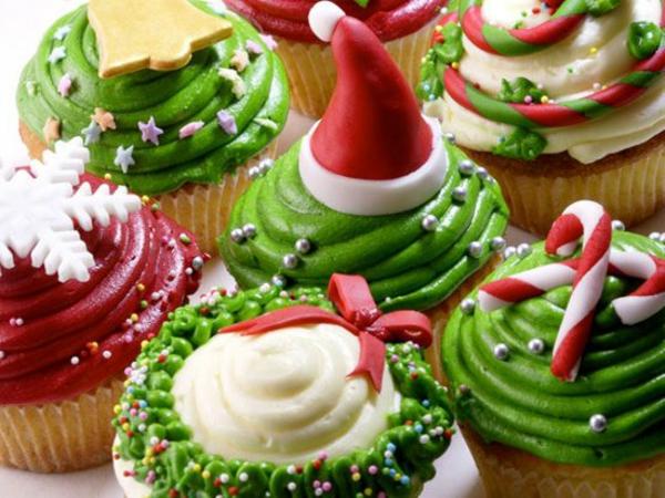 Rezepten-Cupcakes-für-Weihnachten-originelles-Design