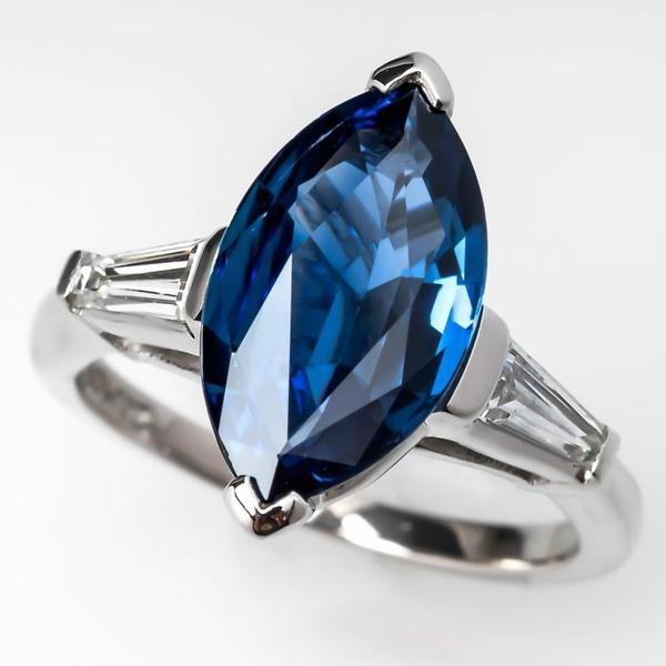 Sapphire-schöner-Verlobungsring-Schöner Velobungsring