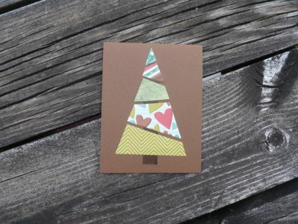 Schöne-Ideen-für-Gestaltung-von- Weihnachtskarten-Tannenbaum