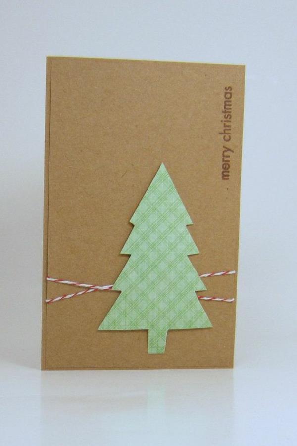 -Schöne-Ideen-für-Gestaltung-von- Weihnachtskarten-Tannenbaum