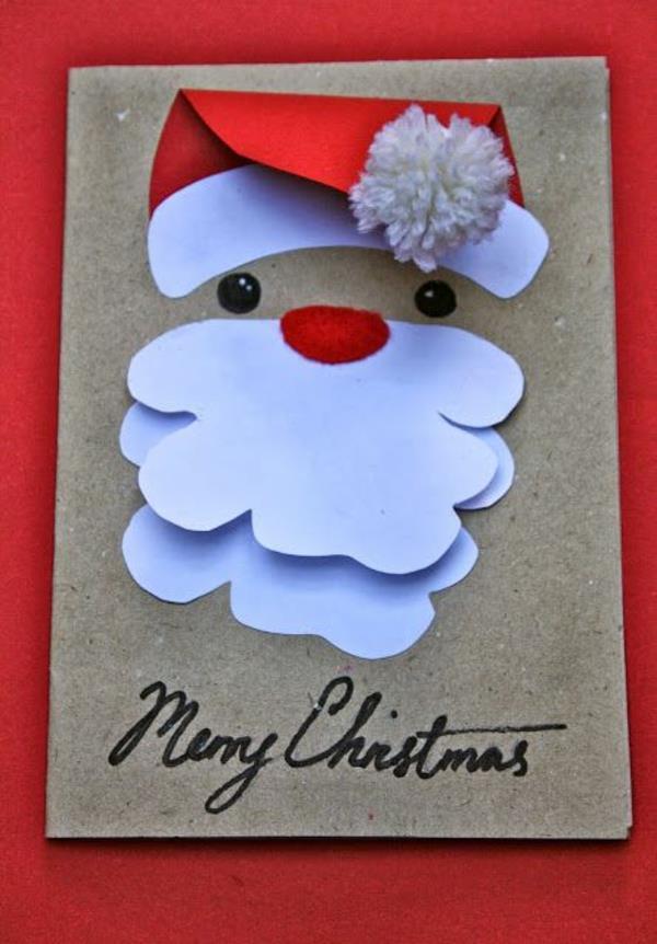 Schöne-Ideen-für-Gestaltung-von- Weihnachtskarten-Weihnachtsmann