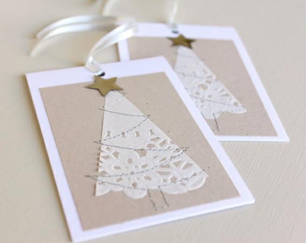 Sch ne weihnachtskarten selber basteln mehr als 100 ideen - Originelle weihnachtskarten ...