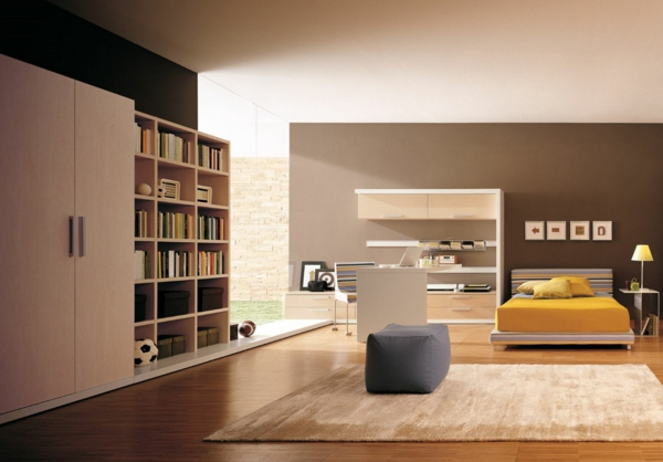 moderne wandfarben 40 trendige beispiele. Black Bedroom Furniture Sets. Home Design Ideas