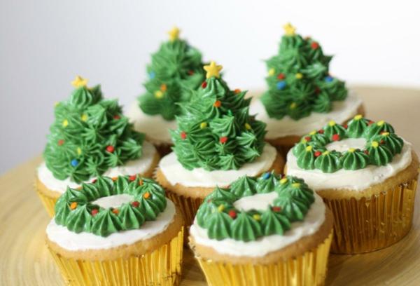 Tannenbäume-Rezepten-Cupcakes-für-Weihnachten
