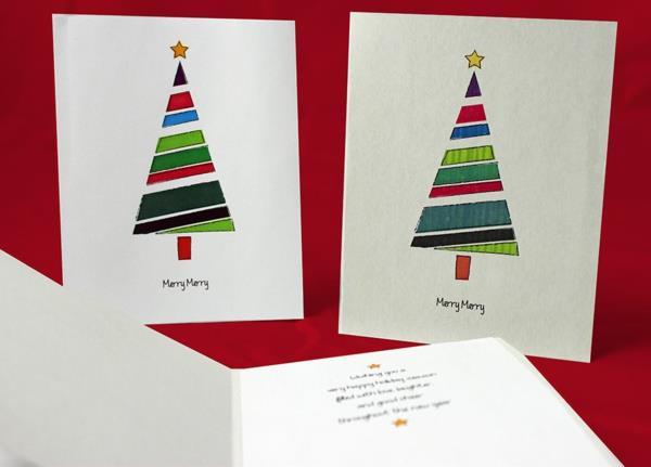 Tolle--Ideen-für-Gestaltung-von- Weihnachtskarten--Weihnachtsbäumen