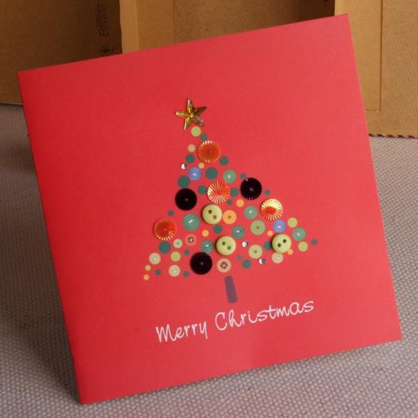 Tolle--Ideen-für-Gestaltung-von- Weihnachtskarten-Weihnachtsbaum