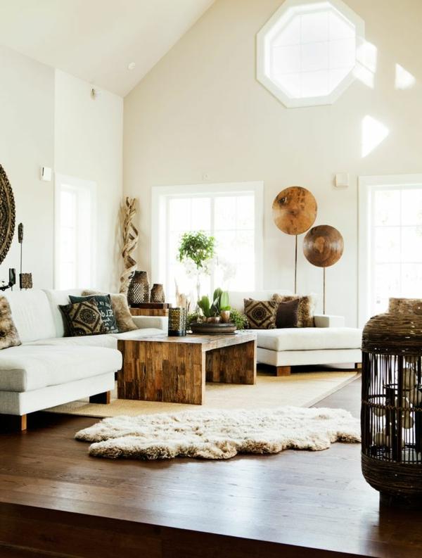 Wandfarbe-Eierschalenfarben-und-tolle-Gestaltung-im-Wohnzimmer
