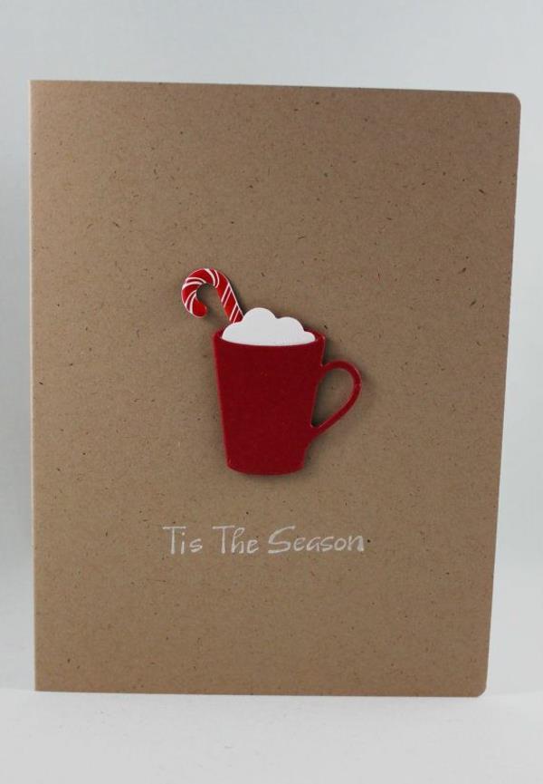 Weihnachtskarten-selbst-gestalten-Ideen