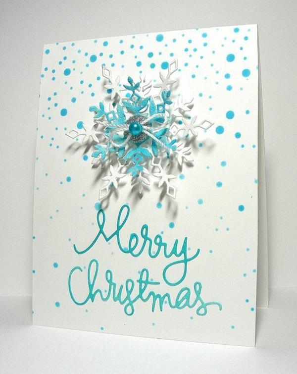 Weihnachtskarten-selbst-gestalten-Schneeflocke