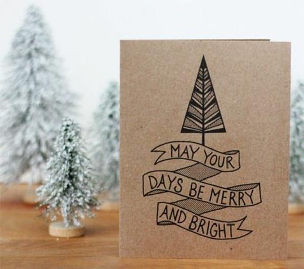 Schöne Weihnachtskarten selber basteln - mehr als 100 Ideen!