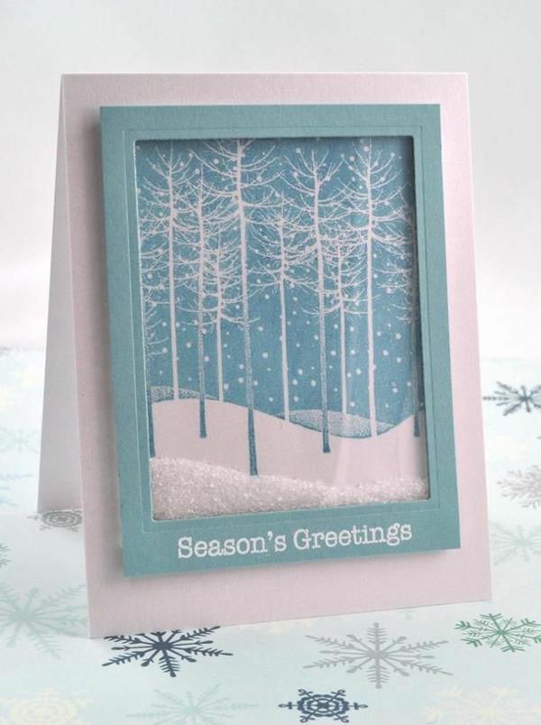 Weihnachtskarten-selbst-gestalten-fantastische-neue-Ideen-