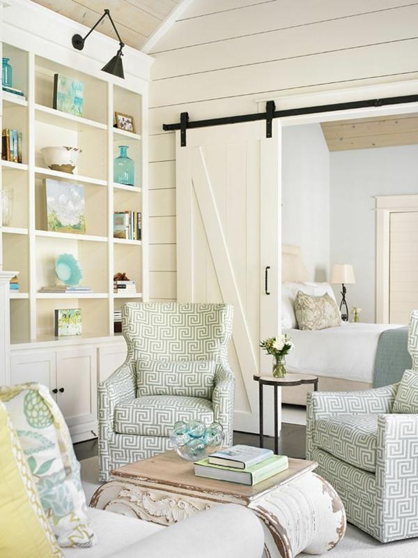 Wandfarbe - Eierschalenfarben -Wohnzimmer-Interior—Design-Idee-mit-schönen-Eierschalenfarben