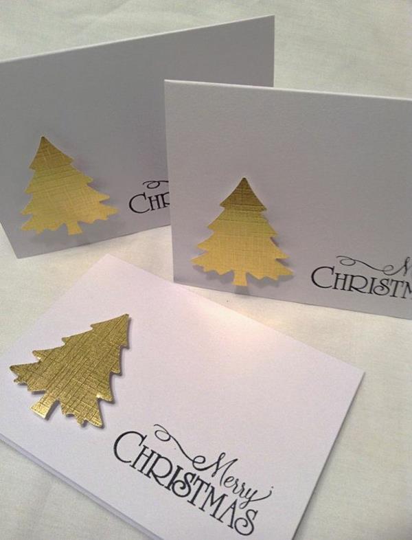 Sch ne weihnachtskarten selber basteln mehr als 100 ideen - Weihnachtskarten ideen ...