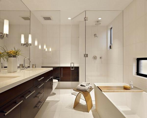 Zeitgenössische-Haus-moderne-Luxus-Badezimmer