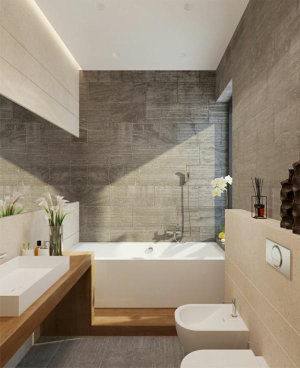 aktuelle-Beispiele-für-ein-modernes-Badezimmer-mit-Blume-als-Deko- Modernes Badezimmer - Ideen
