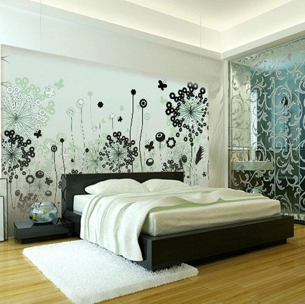 aktuelles-Interior-Design-Wohnideen-Wandgestaltung-im-Schlafzimmer