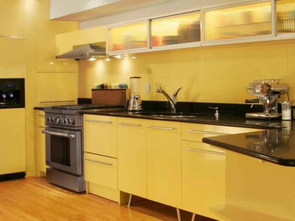 atemberaubende-moderne-gelbe-küchen-wandfarbe