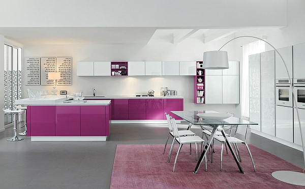 attraktive-Küche-in-Rosa