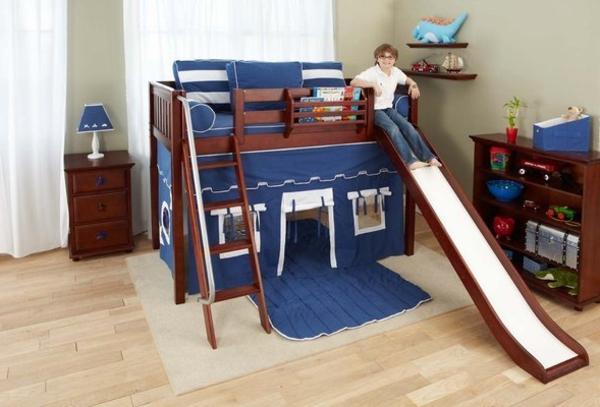 Kinderzimmer Mit Hochbett Und Rutsche 50 Fotos Archzine Net