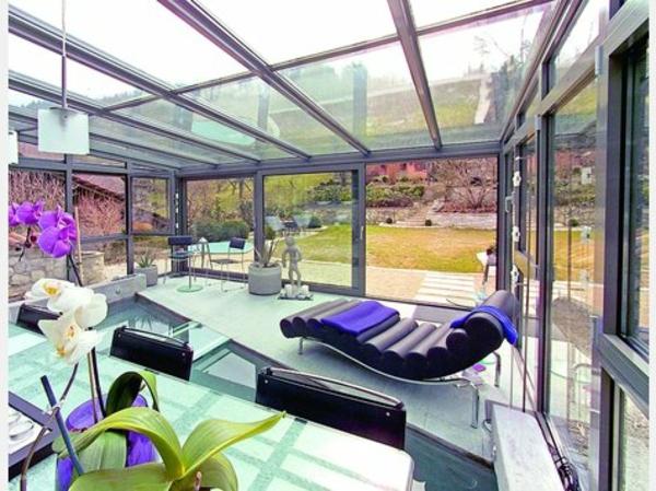 Wohnwintergarten Wintersonne Verglasung Design Ideen 1497221 ...