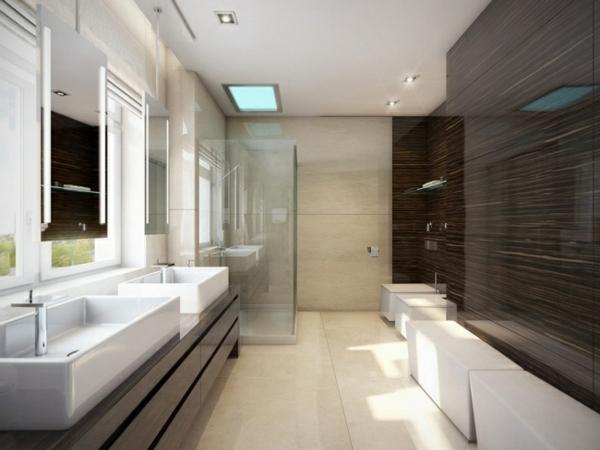 Badbeleuchtung für Decke - 100 inspirierende Fotos! - Archzine.net | {Modernes bad ohne fliesen 18}