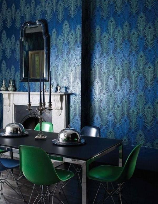 barock-esszimmer-einrichten-blau-und-grün-kombinieren