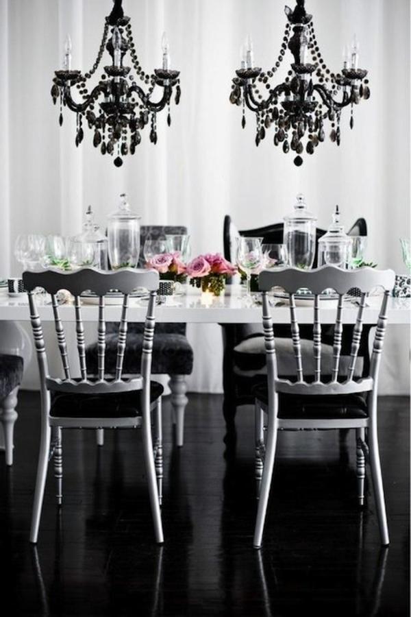 barock-esszimmer-einrichten-weiße-und-schwarze-farbe