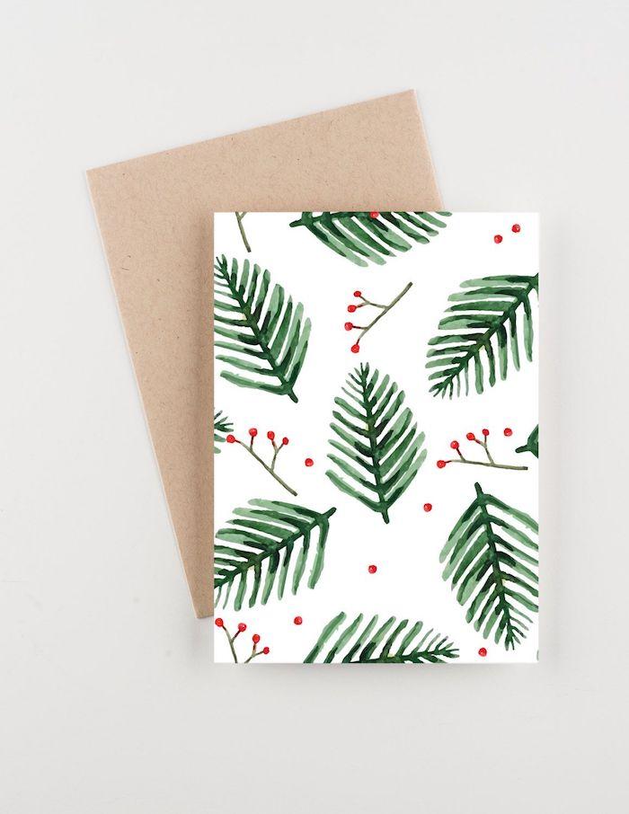 Weihnachtskarten selber machen, Weihnachtsmotive mit Aquarellfarben malen
