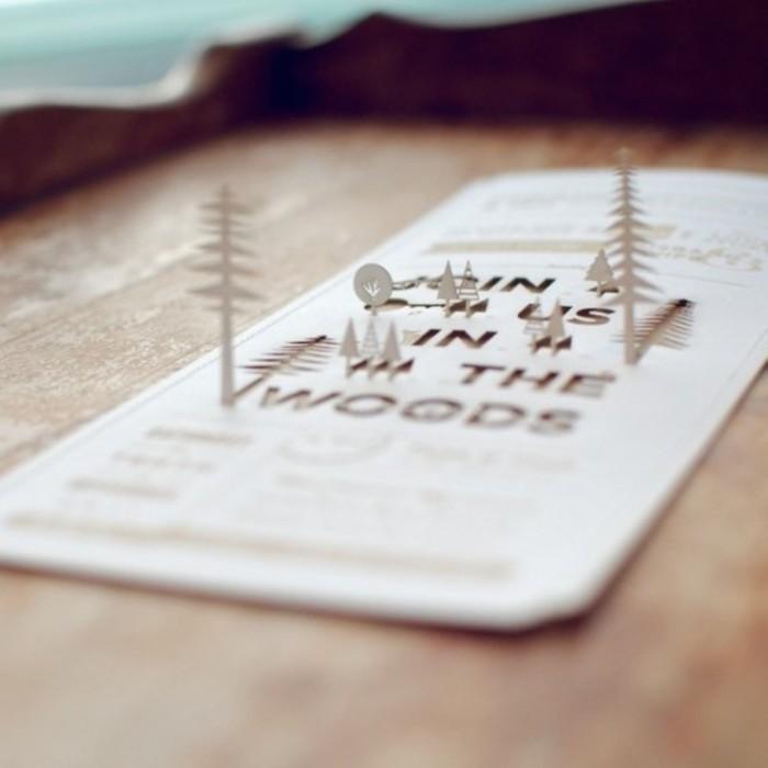Basteln zu Weihnachten, 3D Tannenbäume, Pop Up Weihnachtskarte selber machen