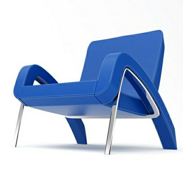 blauer-effektvoller- Designstuhl-für-die-extravagante-Wohnung