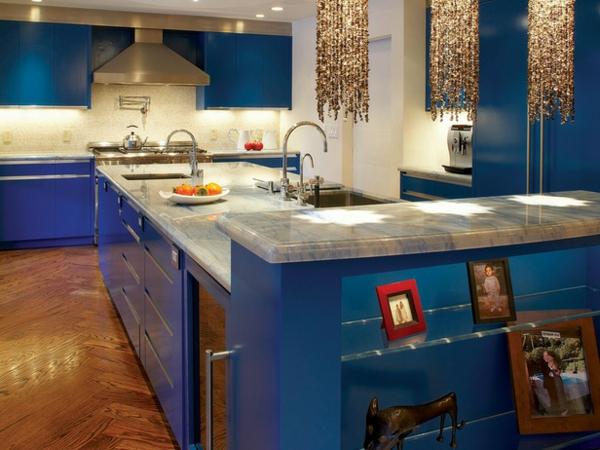Küche Landhausstil Blau: Landhausküchen. Idee küche grün landhaus ...