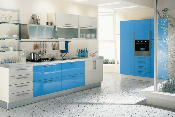 160 neue k chenideen blaue und gr ne farbe - Fetching images of blue and yellow kitchen design and decoration ideas ...