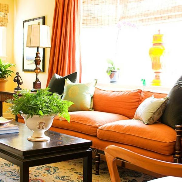 Farbgestaltung Wohnzimmer Orange farbgestaltung wohnzimmer orange