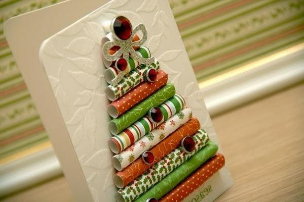 coole-weihnachtskarten-bunter-tannenbaum