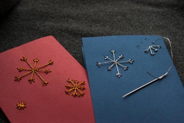 coole-weihnachtskarten-selber-gestalten-interessante-modelle