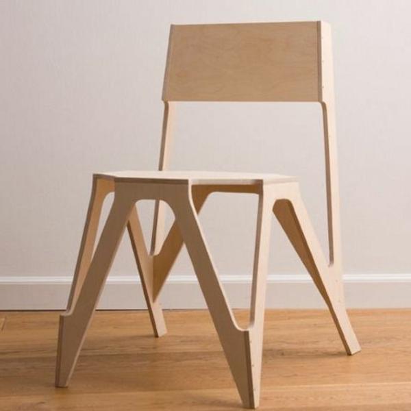 cooles-Design-für-einen-hölzernen-Stuhl