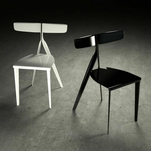 designer-Stühle-mit-außergewöhnlichem-Design-in-Weiß-und-Schwarz