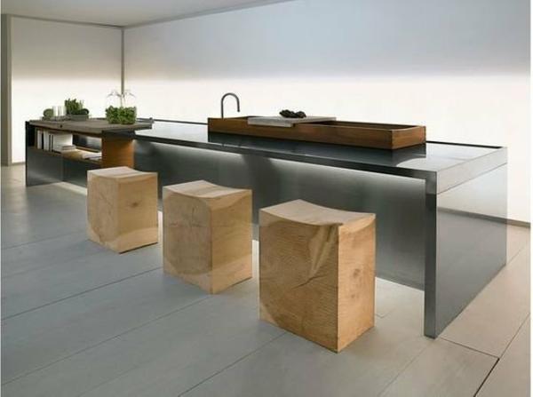 drei-quadratische-Holzhocker-Interior-Design-Idee