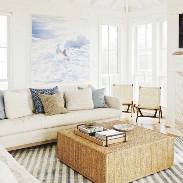 wohnzimmer olivgrün:gemütliches und helles Wohnzimmer mit fantastischem Bild an der Wand