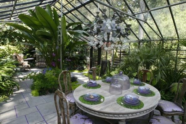 Essbereich Wintergarten Design Idee Stilvoll Extravagant Wintergarten  Gestalten