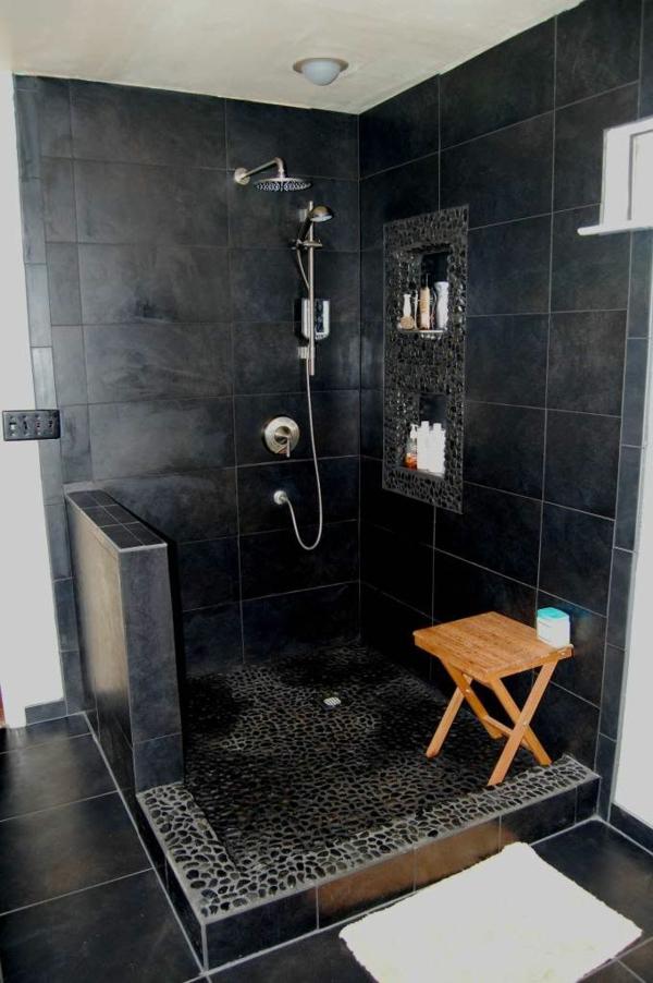 Modernes badezimmer ideen zur inspiration 140 fotos - Schwarzes badezimmer ...