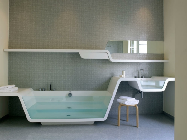 Modernes badezimmer ideen zur inspiration 140 fotos - Coole duschvorha nge ...