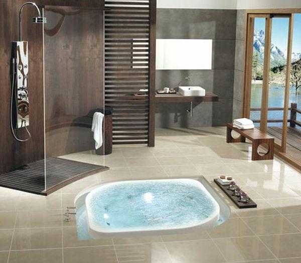 faszinierendes-Badezimmer-modernes- Whirpool-für-Innen