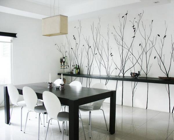 faszinierendes-Design-moderne-und-coole- Wandgestaltung-Esszimmer