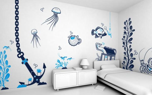 faszinierendes-Design-moderne-und-coole- Wandgestaltung-Kindezimmer-