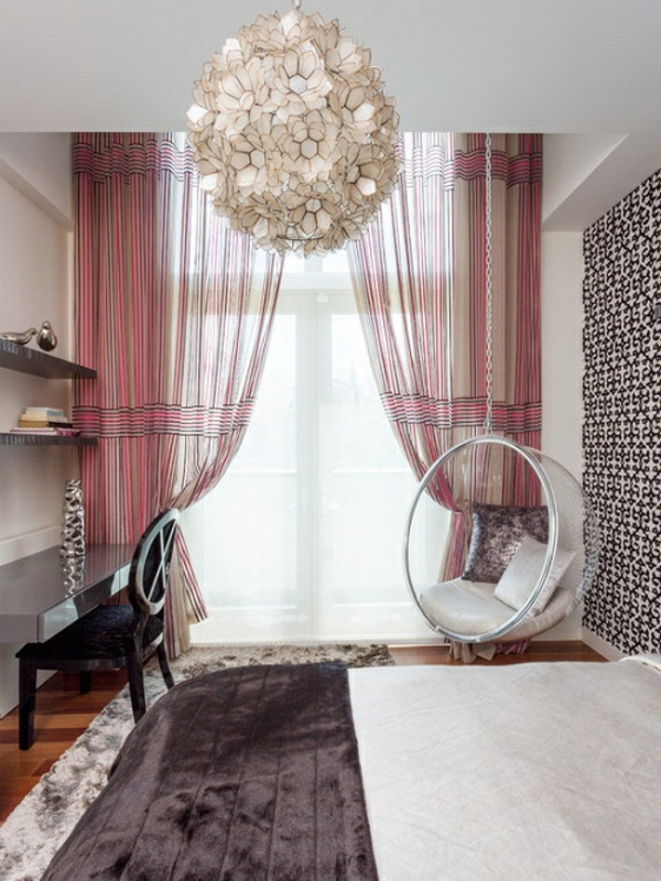 feng-shui-schlafzimmer-einrichten-durchsichtige-vorhänge
