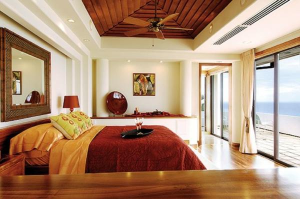 feng-shui-schlafzimmer-einrichten-gläserne-wände