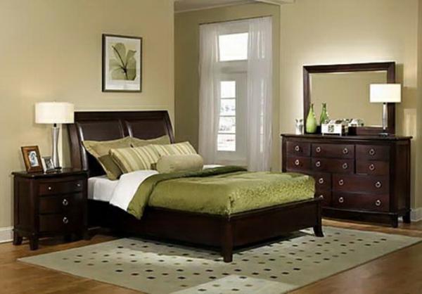 feng-shui-schlafzimmer-einrichten-grüne-ausstattung