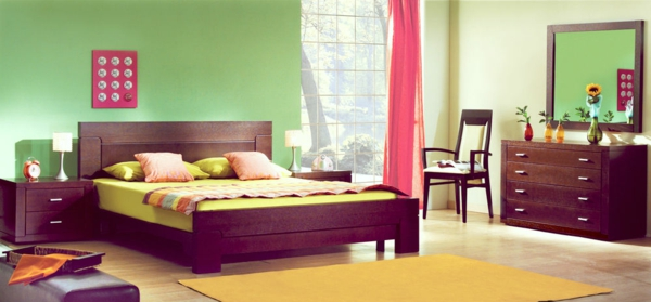 feng-shui-schlafzimmer-einrichten-grüne-wände